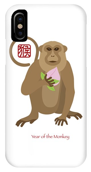 2016 Chinese Year Of The Monkey With Peach IPhone Case