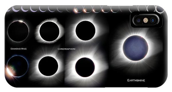 2017 Solar Eclipse Collage IPhone Case