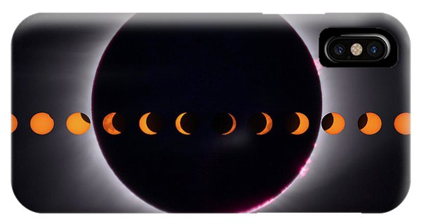 IPhone Case featuring the photograph 2017 Total Eclipse And Moon Path by Mark Dodd