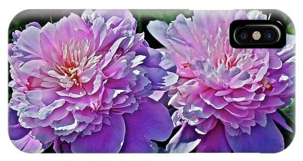 IPhone Case featuring the photograph 2018 Anniversary Peonies by Janis Nussbaum Senungetuk