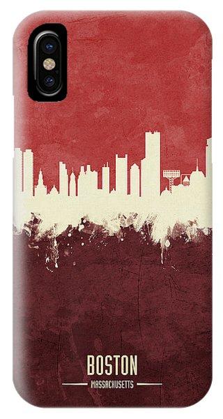 Massachusetts iPhone Case - Boston Massachusetts Skyline by Michael Tompsett