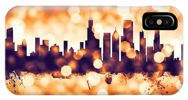Chicago Skyline iPhone Case - Chicago Illinois Skyline by Michael Tompsett