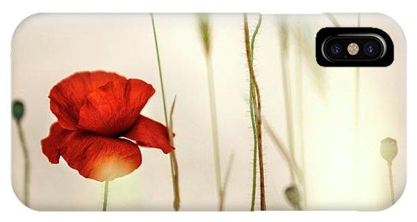 Summer Poppy Meadow IPhone Case