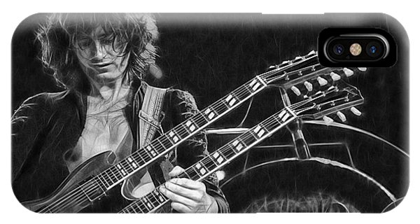 Rock And Roll Jimmy Page iPhone Case - Jimmy Page Collection by Marvin Blaine