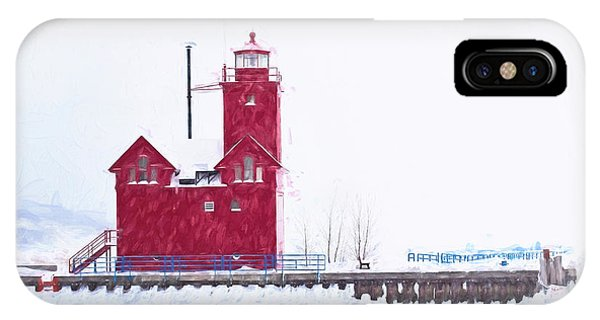 IPhone Case featuring the digital art Michigan Winter by Jill Wellington