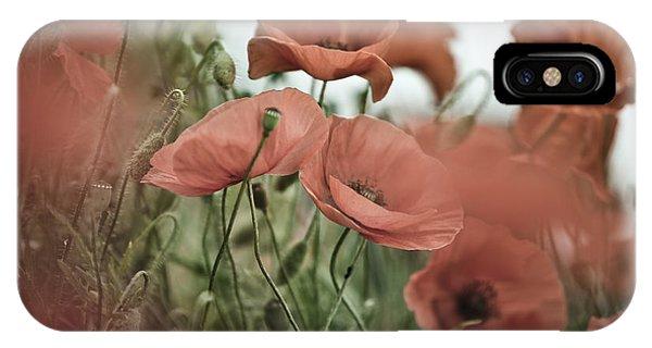 Soft iPhone Case - Poppy Meadow by Nailia Schwarz
