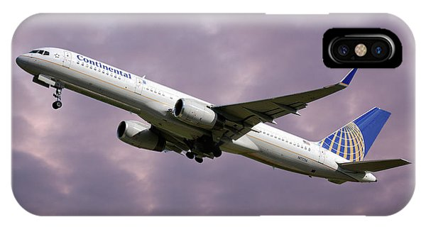 Airline iPhone Case - United Airlines Boeing 757-224 by Smart Aviation