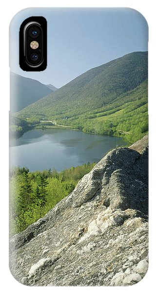 IPhone Case featuring the photograph 235601 Echo Lake Cannon Mountain Nh by Ed Cooper Photography