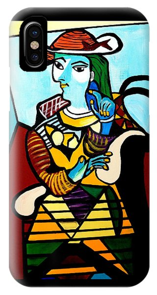 Man In Chair  Picasso IPhone Case