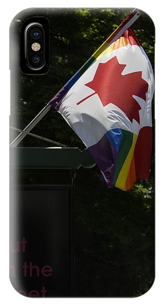 Gay Pride Flag iPhone Case - Toronto by Pierre Roussel