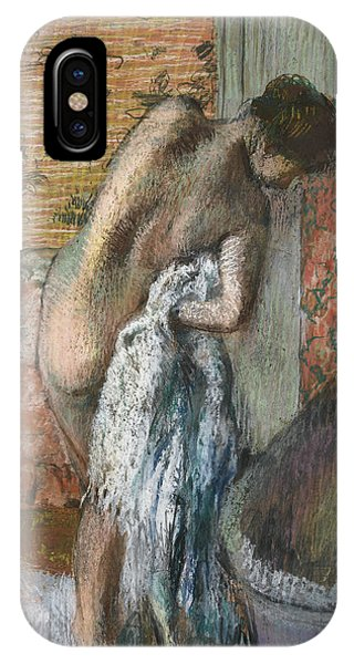 French Painter iPhone Case - After The Bath by Edgar Degas