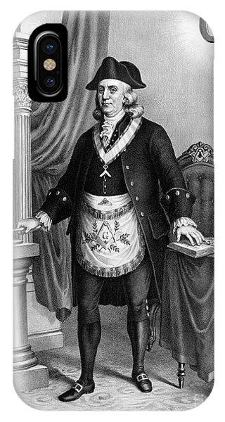 Allison iPhone Case - Benjamin Franklin (1706-1790) by Granger
