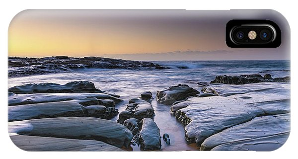 Sunrise Seascape And Rock Platform IPhone Case
