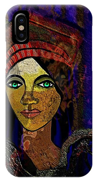 299 - Woman With Red Hat   Phone Case by Irmgard Schoendorf Welch