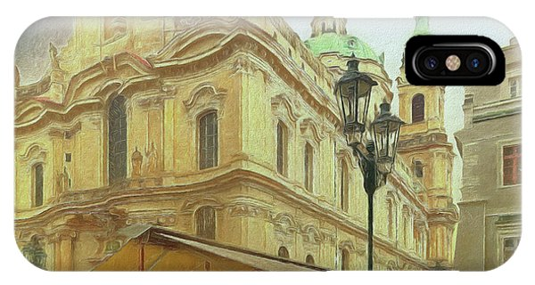 2nd Work Of St. Nicholas Church - Old Town Prague IPhone Case