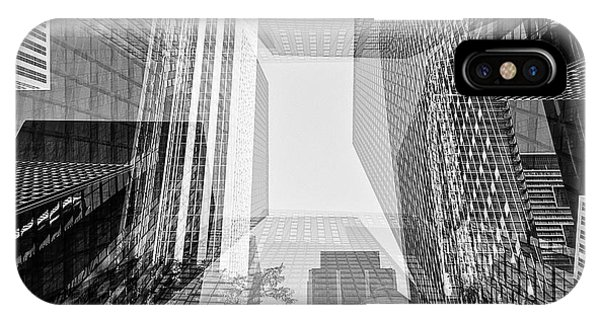 Abstract Architecture - Toronto Financial District IPhone Case