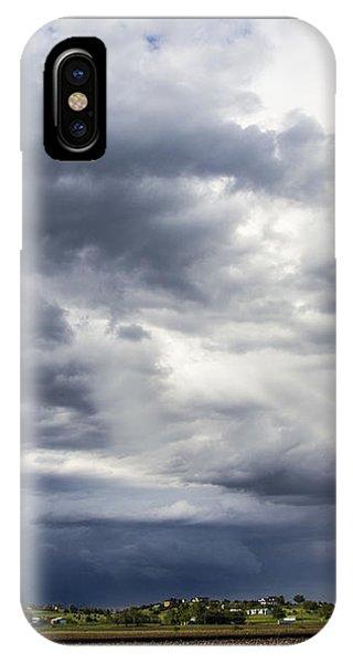 Nebraskasc iPhone Case - Afternoon Nebraska Thunderstorm by NebraskaSC