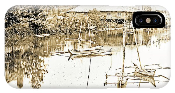 Arrow Head Lake, Philippine Village, 1904 Worlds Fair, Vintage P IPhone Case