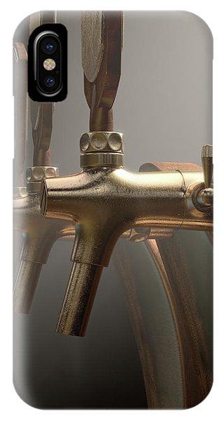 Dispenser iPhone Case - Beer Tap Row by Allan Swart