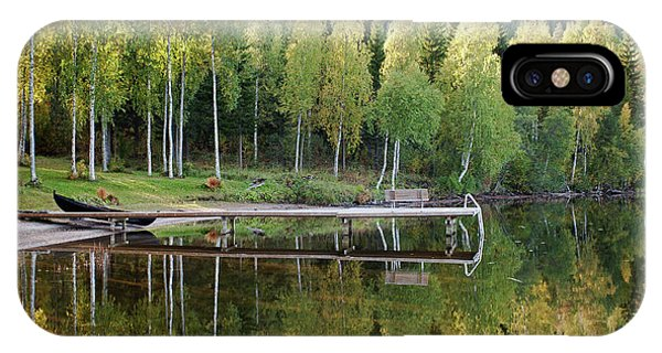 Birches And Reflection IPhone Case