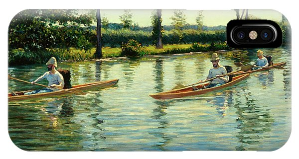 Regatta iPhone Case - Boating On The Yerres by Gustave Caillebotte