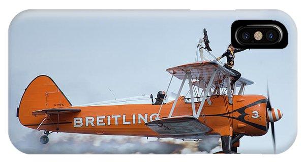 Wings iPhone Case - Breitling Wing Walker by Smart Aviation