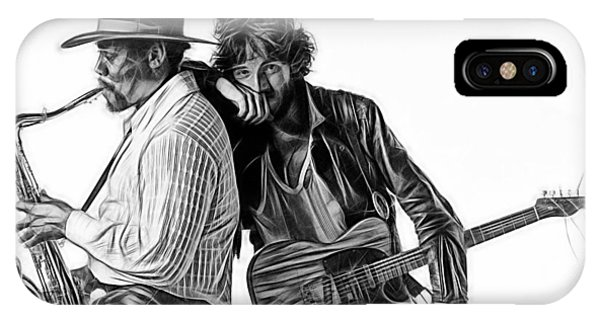 Rock And Roll Art iPhone Case - Bruce Springsteen Clarence Clemons Collection by Marvin Blaine