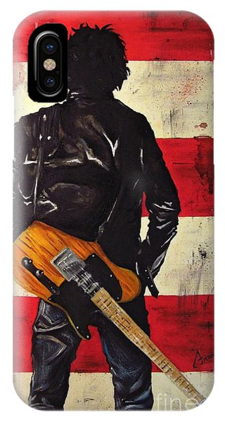 Electric Guitar iPhone Case - Bruce Springsteen by Francesca Agostini