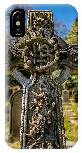 Celtics iPhone Case - Celtic Cross by Adrian Evans