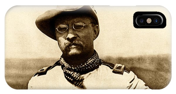 Patriot iPhone Case - Colonel Theodore Roosevelt by War Is Hell Store