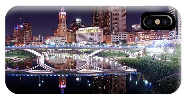 Columbus Ohio Full Moon Pano IPhone Case