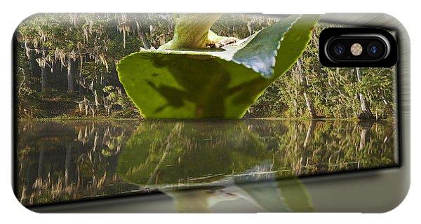3-d Reflecting Lizard Phone Case by Michael Whitaker