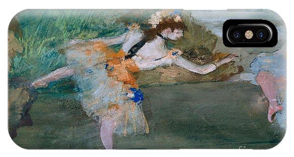 1877 iPhone Case - Dancer Onstage by Edgar Degas