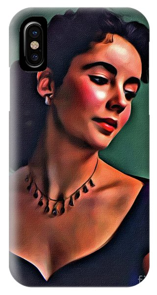 Elizabeth Taylor, Vintage Hollywood Legend By Mary Bassett IPhone Case