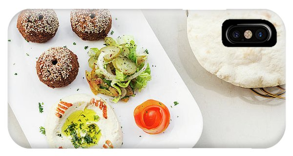 Falafel Hummus Houmus Starter Snack Food Mezze Platter IPhone Case