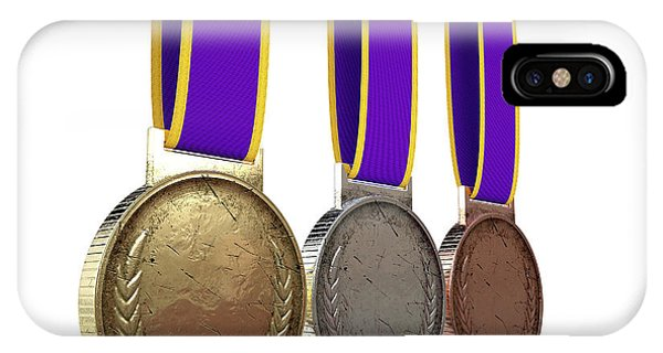 Achievement iPhone Case - First Second And Third Medals by Allan Swart