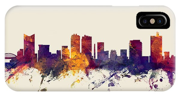 Fort iPhone Case - Fort Worth Texas Skyline by Michael Tompsett
