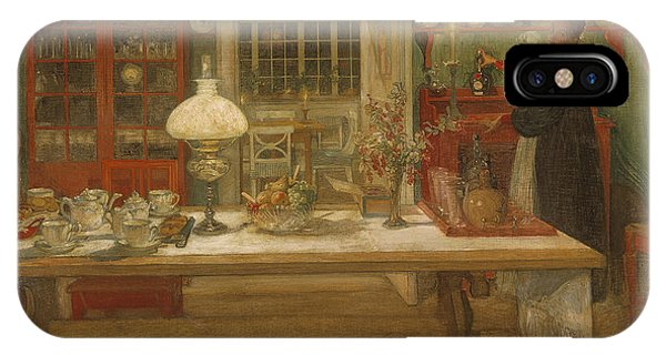 Art And Craft iPhone Case - Getting Ready For A Game by Carl Larsson