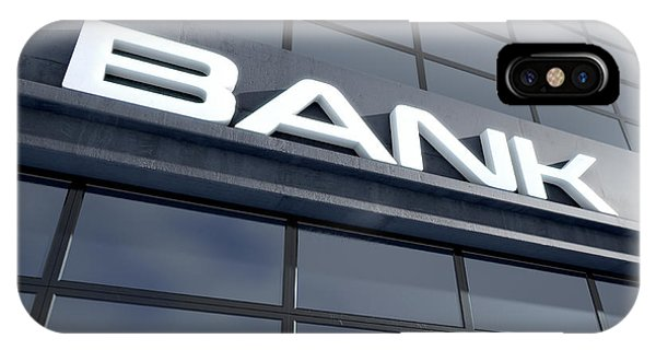 Glass Bank Building Signage IPhone Case