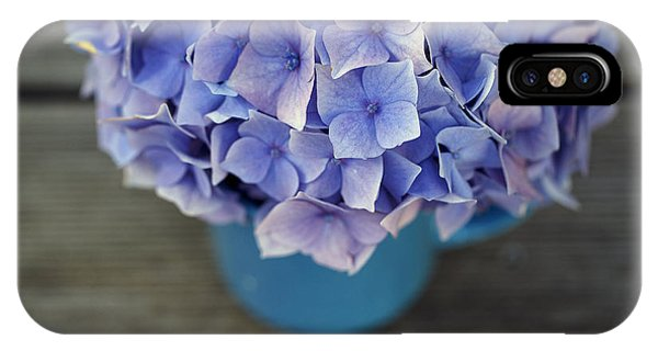 Metal iPhone Case - Hortensia Flowers by Nailia Schwarz