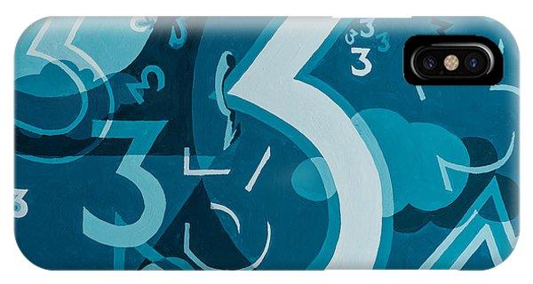 3 In Blue IPhone Case