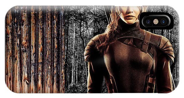 Hunger Games Jennifer Lawrence iPhone Case - Jennifer Lawrence Collection by Marvin Blaine