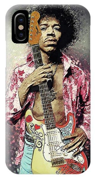 Guitar Legends iPhone Case - Jimi Hendrix by Zapista