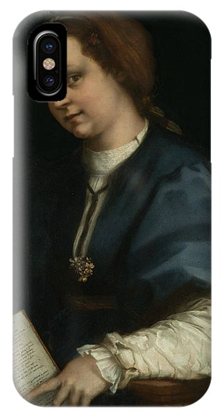 Lady With A Book Of Petrarch's Rhyme IPhone Case