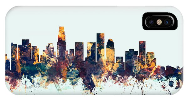 Los Angeles iPhone X Case - Los Angeles California Skyline by Michael Tompsett