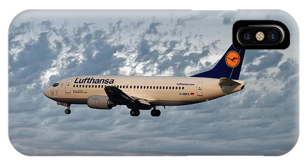 Jet iPhone Case - Lufthansa Boeing 737-300 by Smart Aviation