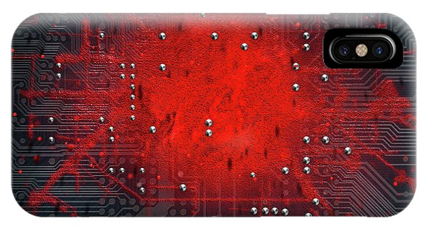 Macro Circuit Board Infection IPhone Case