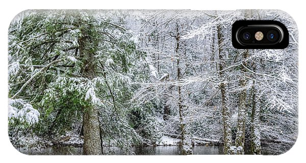 iPhone Case - March Snow Along Cranberry River by Thomas R Fletcher