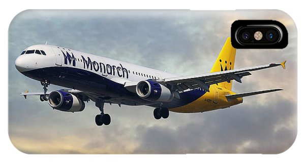 Monarch iPhone Case - Monarch Airlines Airbus A321-231 by Smart Aviation