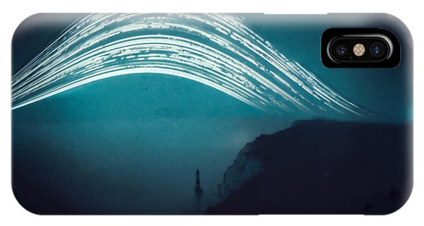 3 Month Exposure At Beachy Head Lighthouse IPhone Case